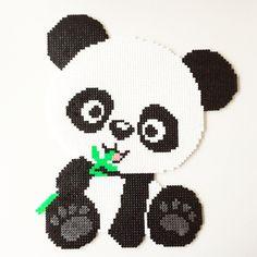 Panda bear perler beads by perler_art