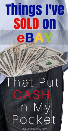 Looking for easy things to sell on eBay? Some of the easiest things to sell on eBay may surprise you! Check out this post where I share what I've sold on eBay to bring in extra money from home!
