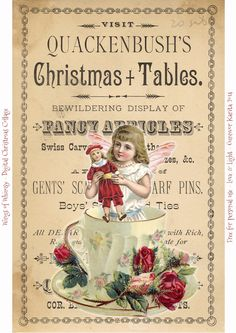 Wings of Whimsy: Vintage Digital Christmas Collage