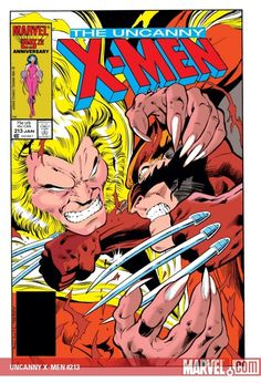 Cover theme: my early days of buying comic books with Alan Davis art. This is the cover for The Uncanny X-Men #213 (from 1987), drawn by Alan, another book for which he provided interior artwork. This is an awesome cover: the ferocity of Sabretooth...
