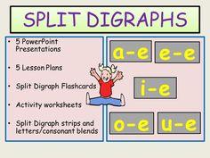 Phonics: Split Digraphs- Presentations, Lesson Plans, Activity Sheets, Practical lessons