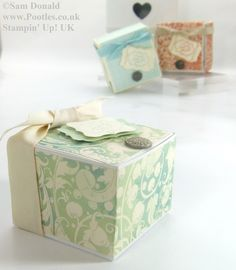 POOTLES Stampin Up Hinged Gift Box Tutorial 5