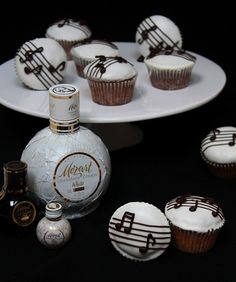 Mozart Cupcakes - cupcakes with chocolate liqueur