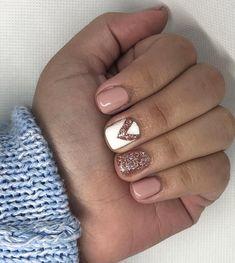 Esmaltado permanente con diseño tonos pasteles  con brillo! #manicure #manicurepermanente #esmaltado #esmalte #esmaltadopermanente #esmaltepermanente #manicurechile #manicuresantiago #uñas #uñassantiago #uñaschile #nailart #nailartchile #nails #instachile #chilegram #santiago #chile #instauñas #instauñaschile #naildesign #naildesignchile #manos #instanails #chilenas Semi Permanente, Formal Nails, Pretty Nail Art, Beautiful Nail Designs, Gorgeous Nails, Shellac, Nail Arts, Nail Inspo, Beauty Nails