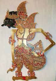 Duryudana the first born of the 100 Kurawa children, Karananyar Central Java, Wayang Kulit, Leather