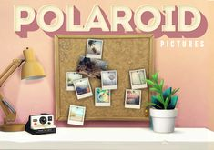 My Sims 4 Blog: Polaroid Pictures, Books and Lights by LittleCakes