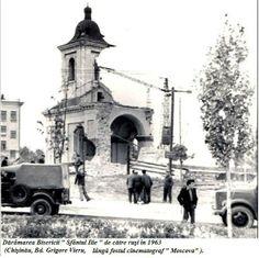 Distruction of Saint Elie's church in Chișinău by communists, in 1963 Republic of Moldova Republica Moldova, Communism, Spiritual Inspiration, Spirituality, History, Christian, Historia, Spiritual, Christians