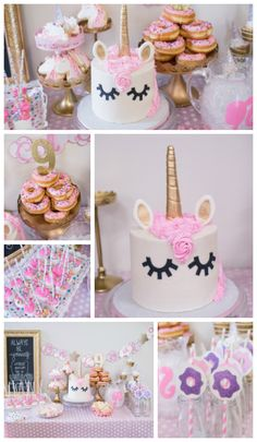 """on Cloud 9"" birthday party theme. www.keepinupwiththedunphys.com Unicorn party, Cloud 9 party, Pink and gold birthday party, Tween Party, Birthday Party Theme"