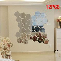 Transfers Easy Apply DIY Wall 12 Fancy Rose Tile Decals Window Stickers