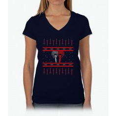 Kylo Ren Ugly Christmas Sweater Womens V-Neck T-Shirt