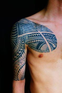 太鼓,五分袖,トライバルのタトゥーデザイン|タトゥーナビ