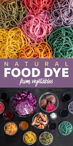 Avoid artificial food dye and make your own all-natural food coloring from vegetables instead. This easy method is both eye-catching and fun. Pasta Recipes, Cooking Recipes, Potato Recipes, Vegetable Recipes, Vegetarian Recipes, Dinner Recipes, Rainbow Food, Rainbow Pasta, Food Network