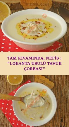 Exquisite, Delicious: Restaurant Style Chicken Soup - In its full consistency, it is both satisfying, healthy and very delicious . The real recipe of this wonderful soup that is insatiable with the taste you drink in artisan restaurants . Yummy Recipes, Yummy Food, Tasty, Healthy Recipes, Turkish Kitchen, Cooking Dishes, Delicious Restaurant, Salad Ingredients, Turkish Recipes