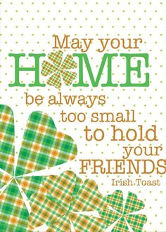 Create great memories with your friends, family and colleagues this St. Patrick's Day! Share this card today. Send a card for $1.98 when sharing from Sendcere.com. Click to send this card.
