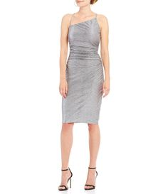 Laundry by Shelli Segal Asymmetrical Neck Sheath Dress #Dillards