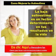 Visita: http://subirlaautoestima.blogspot.com/ y descubre como aumentar tu autoestima definitivamente