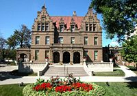 The Pabst Mansion, built in 1892 and home to Captain Frederick Pabst, the beer baron, in Milwaukee.  I miss working here!