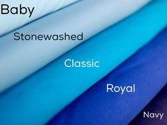 Organic Rib Knit Fabric in Blue UK Seller by BizzyandBooFabrics