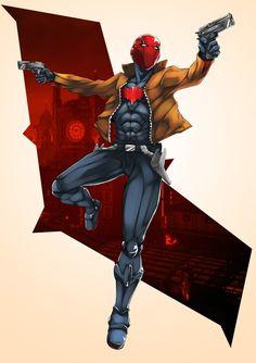Red Hood by kevzter on DeviantArt - Jason Todd Red Hood Dc, Batman Red Hood, Batman Robin, Red Hood Comic, Robin Superhero, Gotham Batman, Jason Todd Robin, Red Hood Jason Todd, Nightwing
