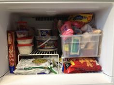 Your freezer is for frequent items; store extras in the deep freeze to keep everything usable. Tons of great organized tips on this site.