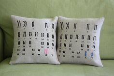 A= I would use these pillows. Medical Laboratory and Biomedical Science: Chromosome Pillows for You and Me Science Gifts, Science Jokes, Science Geek, Life Science, Chemistry Jokes, Medical Laboratory Science, Biomedical Science, Dna Facts, Lab Humor