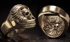The Revenant Skullring (Sterling Silver) By: www.BookofAlchemy.com