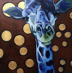"Painting : ""Day 14 - Giraffe"" (Original art by Kathryn Wronski)"