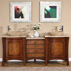@Overstock - Enhance your home decor with a double vessel vanity sink  Bathroom vanity is your choice of beauty and function  Furniture features a design of drop-in travertine stone bowl and beige travertine countertophttp://www.overstock.com/Home-Garden/Silkroad-Exclusive-Rocklin-Bathroom-Double-Vessel-Vanity/4275806/product.html?CID=214117 $1,539.99
