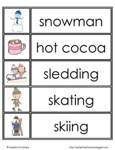 winter word wall cards!!