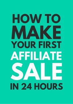 Affiliate marketing is one of the most lucrative ways to make income online. Learn how to make your first affiliate sale. Make passive income with affiliate marketing. Affiliate Marketing, Marketing Program, Inbound Marketing, Marketing Digital, Viral Marketing, Facebook Marketing, Content Marketing, Mobile Marketing, Make Money Blogging