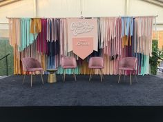 Create & Cultivate with JCPenney – ModlyChic – corporate event design Boho Backdrop, Ribbon Backdrop, Backdrop Design, Booth Design, Backdrop Event, Stage Backdrops, Photo Booth Backdrop, Corporate Event Design, Decoration Evenementielle
