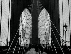 "Paul Strand, ""Brooklyn Bridge,"" 1921 (from the film, ""Manhatta"" by Paul Strand and Charles Sheeler)"