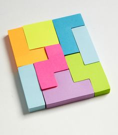 Tetris sticky notes?! Pure awesomeness.