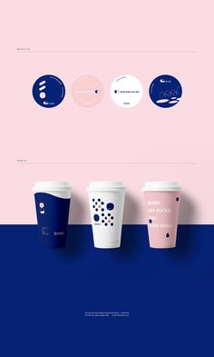Qmilk初沐 on Behance - Design - Brand Identity Design, Graphic Design Branding, Graphic Design Illustration, Logo Design, Coffee Design, Cup Design, Layout Design, Packaging Design Inspiration, Graphic Design Inspiration