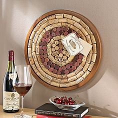 Round Wine Cork Board Kit - great site with lots of other kits, too!