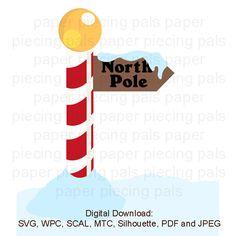 SVG cut file. North Pole