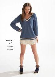 Modèle de tricot - Pull n°11 - Catalogue Cheval Blanc n°16 - Laine utilisée : SAMBA