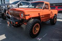 All the Jeeps at SEMA all 289 of them, in one place, right here. From mild to wild, they were all at the show this year. Jacked Up Trucks, Ford Pickup Trucks, Jeep Pickup, Jeep Truck, Cool Trucks, Chevy Trucks, Jeep 4x4, 4x4 Trucks, New Chevy Silverado