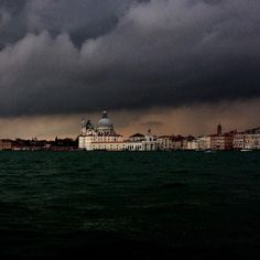 The view from San Giorgio //  Pietro Lunetta  #photooftheday #venice #view #art #architecture #storm #clouds #sunset #fortuny by fortunyvenezia