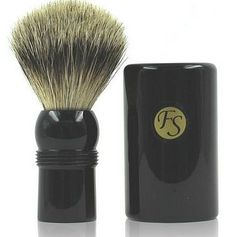 Shaving Brush  Best Badger Travel Brush with Ebony Case 19 Mm Knot -- You can get additional details at the image link.