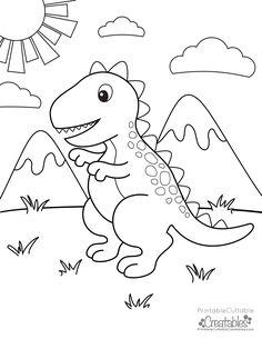 Free Printable T-Rex Dinosaur Coloring Page