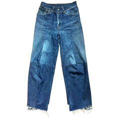Blue Cotton Jeans VETEMENTS (18.960 ARS) ❤ liked on Polyvore featuring jeans and blue jeans