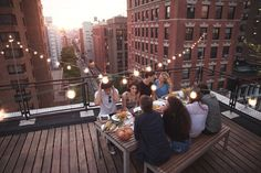 Summer Dinner Party on a Rooftop :: Sosh :: Seattle