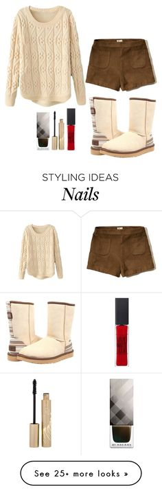 """""""Outfit #871"""" by ivanna1920 on Polyvore featuring UGG Australia, Hollister Co., Burberry, Stila and Maybelline"""