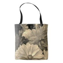 Abstract Floral Dahlia Garden Flowers Tote Bag