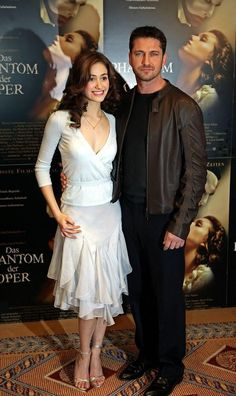 Emmy Rossum and Gerry at The Phantom of the Opera premiere