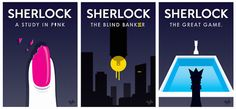 Sherlock - Posters for Season 1 by Ania GoszczynskaSubmitted by I'll be your mirror