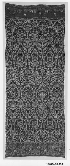 Wall Hanging, with Pomegranate Pattern  Date: early 16th century Geography: Made in, Nuremberg