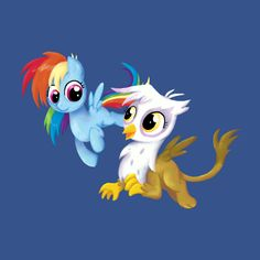Awesome 'My+Little+Pony+-+Filly+Rainbow+Dash+and+Gilda' design on TeePublic!