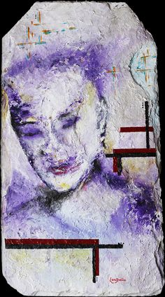 The Dreamer, acrylic on Slate